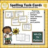 Spelling Task Cards Set 9 WhChThSh