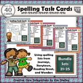 Spelling Task Cards Sets 21-25