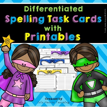 Spelling Activities (Spelling Task Cards-Differentiated)