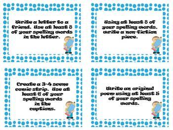 Spelling Task Cards - Writing Tasks