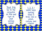 Spelling Task Cards for Any Spelling List