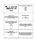 Spelling Task Cards for Centers