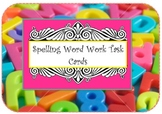 Spelling Task Cards for Literacy Centers