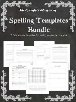 Spelling Template Bundle