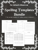 Spelling Template Bundle