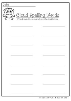 Spelling Template Freebie