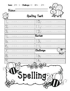 Spelling Template for Journeys