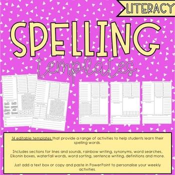 Spelling Templates