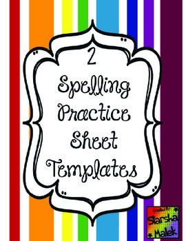 Spelling Templates (S.Malek)