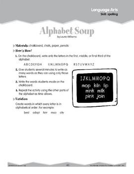 Spelling (Ten-Minute Activities)