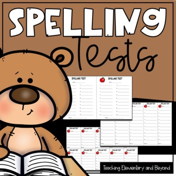 Spelling test with dictation sentences teaching resources teachers spelling test and dictation paper 5 10 and 20 words fandeluxe Images