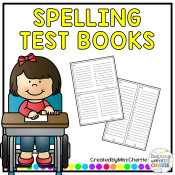 Spelling Test Book