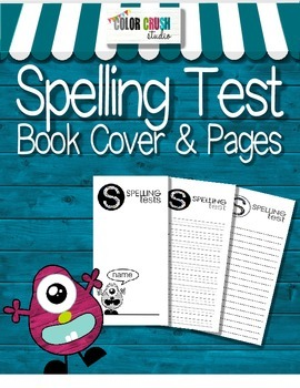 Spelling Test Book Cover and Pages