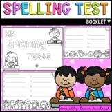 Spelling Test Booklet