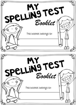 Spelling Test Booklet