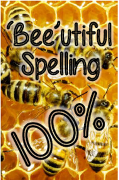 Spelling Test Brag Tag