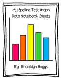 Spelling Test Data Sheets - Bar Graph