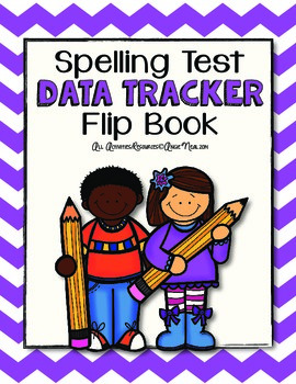 Spelling Test Data Tracker - Flip Book Style