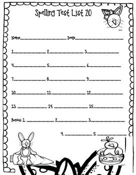 Spelling Test Easter