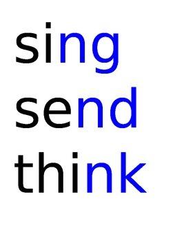 Spelling Test Ending Consonant Blends