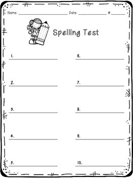 Spelling Test {FREEBIE}
