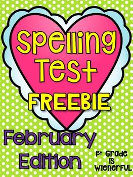 Spelling Test FREEBIE~ February Edition!!!!!
