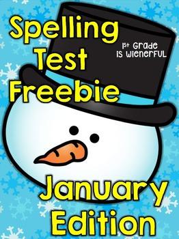Spelling Test FREEBIE~ January Edition!!!!!