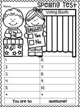 Spelling Test FREEBIES:  November Edition!!!! :o)