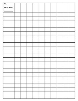 Spelling Test Form and Data Tracking Sheet