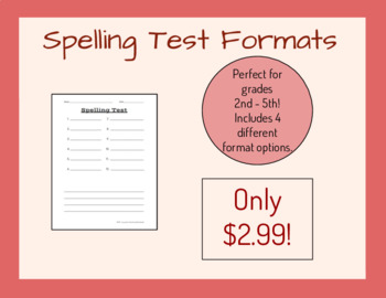 Spelling Test Formats
