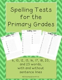 Spelling Test Formats for the Primary Grades