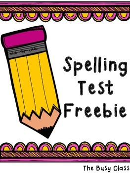 Spelling Test Freebie
