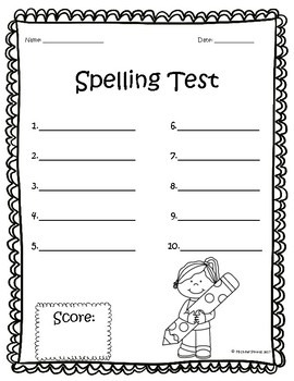 Spelling Test Freebies