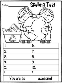 Spelling Test Freebies ~ April Edition!