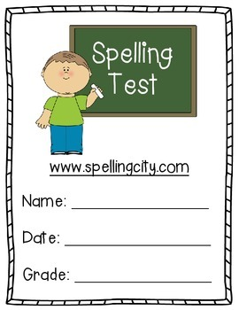 Spelling Test Grade Sheet - (For use with Spelling City)