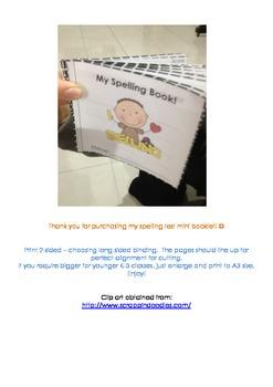 Spelling Test Mini Booklet