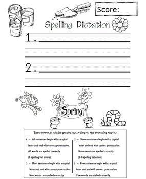 Spelling Test Pack