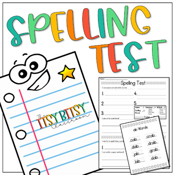 Spelling Test Pack - Includes 38 Spelling Lists & Homework Activity Sheet