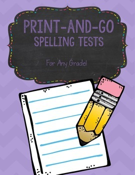 Spelling Test Pages - Any Grade!
