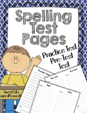 Spelling Test Pages