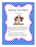 Spelling Test Pages and Reading Street Sentence Dictation Page