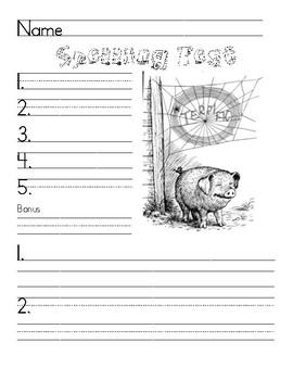 Spelling Test Papaer