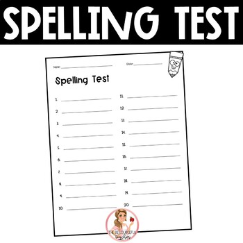 Spelling Test Paper | 20 words