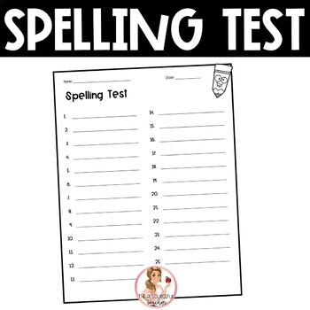 Spelling Test Paper (25 words)