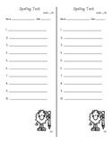 Spelling Test Paper- 3 Types