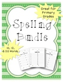 Spelling Test Pages - Primary - (10, 12, & 20 Words)