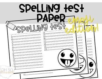 Spelling Test Paper - EMOJIS edition!