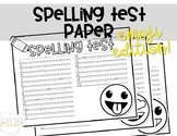 Spelling Test Paper - EMOJIS edition!