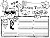 Spelling Test Paper // Fun in the Sun!  JPG