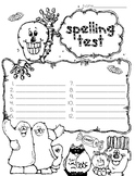 Spelling Test Paper // Halloween!